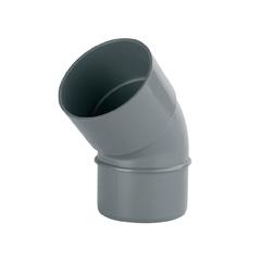 Codo PVC 87º 30' sanitario ø75mm M-H gris