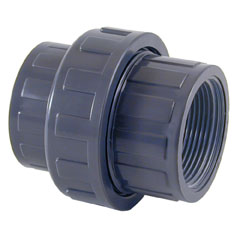 Enlace 3 piezas PVC ø110mm - rosca hembra 4'' PN10