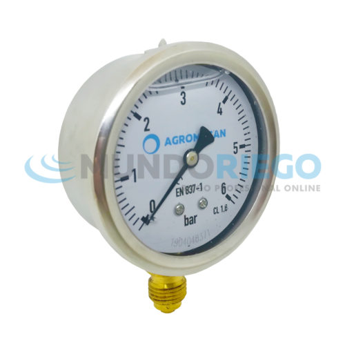 Manómetro 0-6 bar glicerina