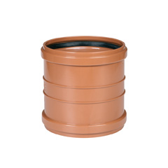 Manguito PVC saneamiento ø250mm H-H teja