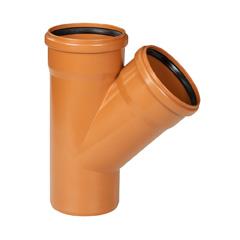 Te PVC 87º 30' saneamiento ø250mm M-H teja