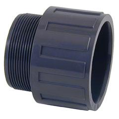 Terminal PVC rosca macho 3''- ø90-ø75mm PN10