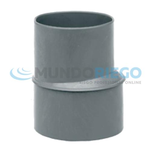 Ampliación cónica excentrica PVC sanitario ø315-200mm M-H gris