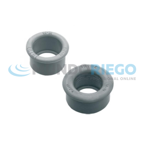 Casquillo reducción PVC sanitario ø50-ø40mm H-H gris