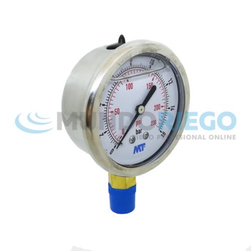 Manómetro 0-16 bar glicerina