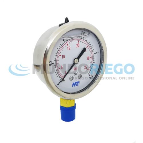 Manómetro 0-2,5 bar glicerina