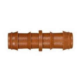 Manguito empalme seguridad ø16mm acetal marrón tubería PE