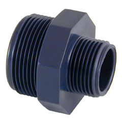 Machón PVC reducido rosca macho 1.1/2''-1'' PN10