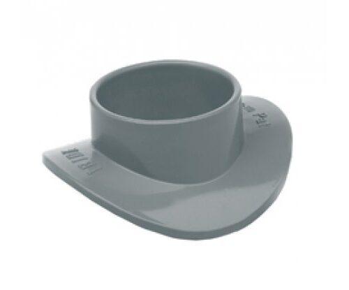 Injerto clip PVC sanitario ø160-ø32mm tipo escudo gris