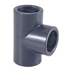 Te PVC reducida mixta ø63mm - rosca hembra 1'' PN10