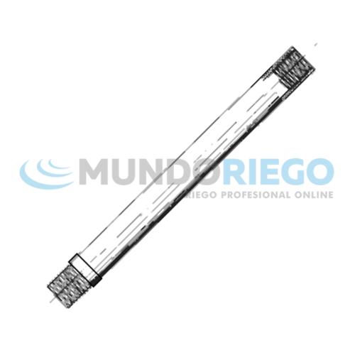 Tubo aspersión aluminio toma tipo TUC-26 de 2'' barra 6m