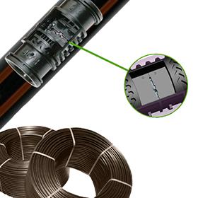 Tubería AZUD PRO Ø16mm c/33cm 1,6l/h e:0.9mm R:550m