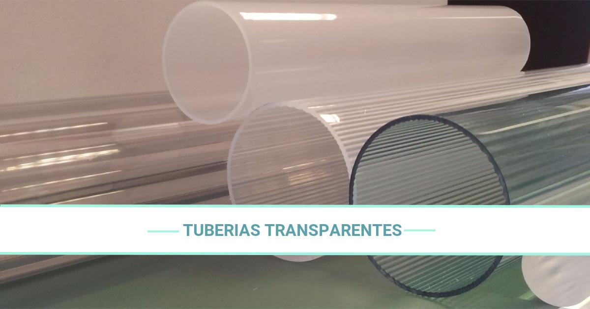 Tuberías de PVC transparentes