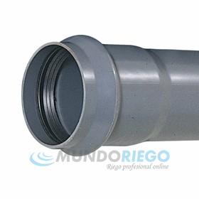Tubo PVC junta elástica ø125mm 10 atmósferas