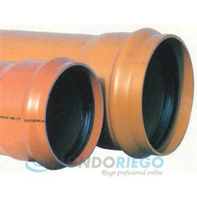 Tubo PVC saneamiento ø200mm SN4 multicapa