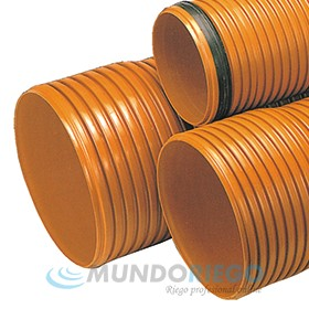 Tubo PVC saneamiento ø250mm SN8 corrugado