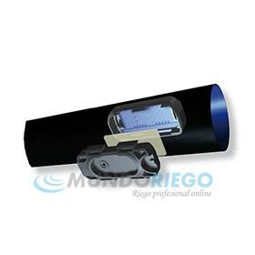 Tubería DRIPNET PC Ø16mm c/75cm 1,6l/h e:1mm R:500m