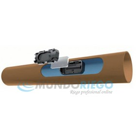 Tubería TECHNET 16mm c/50cm 2l/h e:1.1mm R:100m marrón