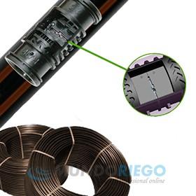 Tubería AZUD DRIP Ø16mm c/50cm 2,2l/h e:1mm R:400m marrón