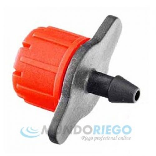 Gotero turbulento desmontable regulable rojo