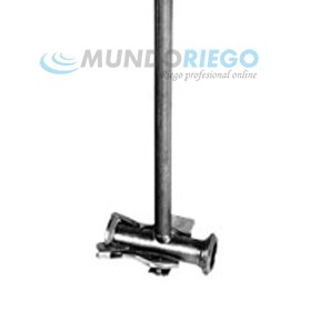 Te porta aspersor M-H ø63mm palanca+caña 0,7m RH 3,4''