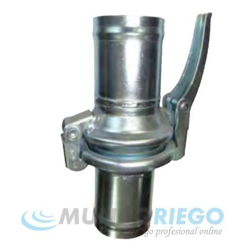 Enlace rótula acero zincado conex. manguera-manguera ø75mm