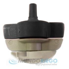 Boquilla microaspersor SPINNET 70l/h conex. macho negra-gris