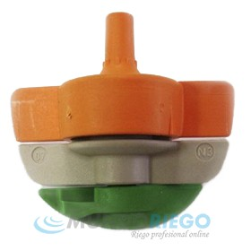 Boquilla microaspersor SPINNET 90l/h conex. macho naranja-verde