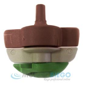 Boquilla microaspersor SPINNET 160l/h conex. macho marrón-verde