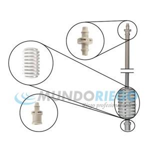 Pack microtubo 4x7mm 15cm+estabilizador+conexión
