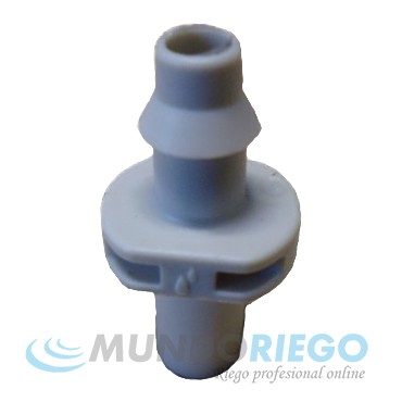 Conector microtubo 4x7mm macho-dentado gris