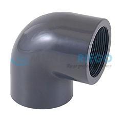 Codo PVC 90º rosca hembra 2'' PN10