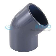 Codo PVC 45º ø50mm encolar PN16