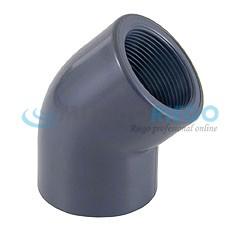 Codo PVC 45º rosca hembra 1.1/2'' PN10