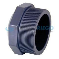 Tapón PVC rosca macho 2.1/2'' PN10