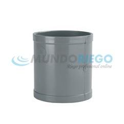 Manguito PVC sanitario ø125mm H-H gris