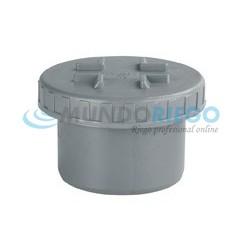 Tapón registro roscado PVC sanitario ø90mm macho gris