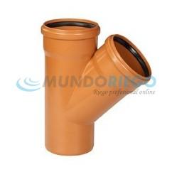 Te PVC 45º saneamiento ø160mm M-H teja
