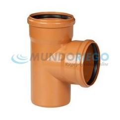 Te PVC 87º 30' saneamiento ø160mm M-H teja