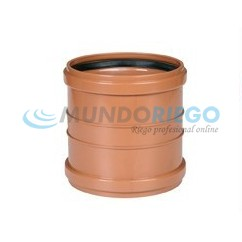 Manguito PVC saneamiento ø160mm H-H teja