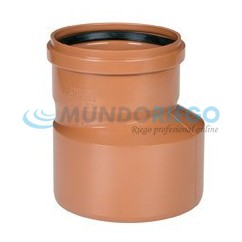 Ampliación cónica excéntrica PVC saneamiento ø110-ø160mm H-M teja
