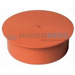 Tapón ciego PVC saneamiento ø250mm macho teja