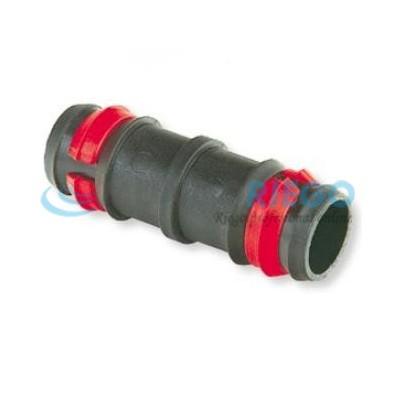 Manguito empalme seguridad ø16mm anillas rojas tubería PE