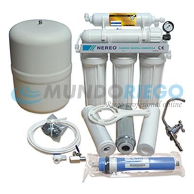 Osmosis doméstica 5 etapas Nereo sin bomba