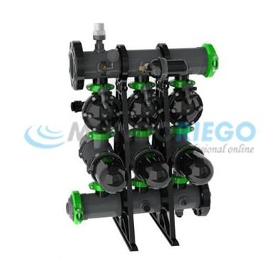 Filtro anillas automático 3'' batería PP 3 uds. SKS 3''S LCE 120 mesh
