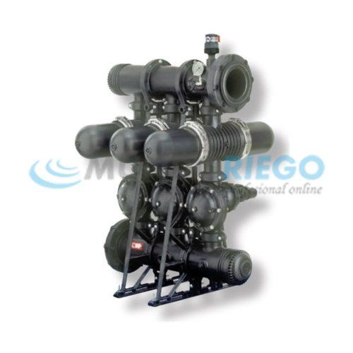 Filtro anillas automático 2'' batería PP 3 uds. SKS 2''S-CD 120 mesh