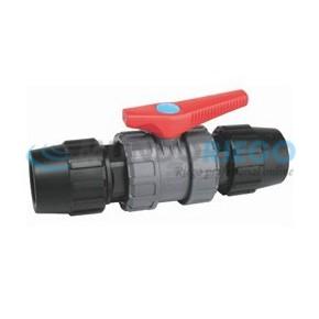 Válvula bola PVC salidas PE-PE ø63mm JIMTEN