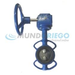 Válvula mariposa fundición DN80 reductor disco fund. GA