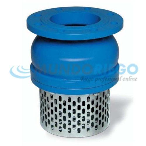 Válvula de pie DN125 filtro acero inoxidable