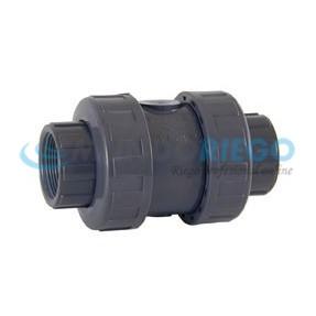 Válvula retención PVC rosca hembra muelle 1/2''